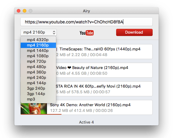 YouTube downloader – get YouTube videos with Airy on Mac and PC