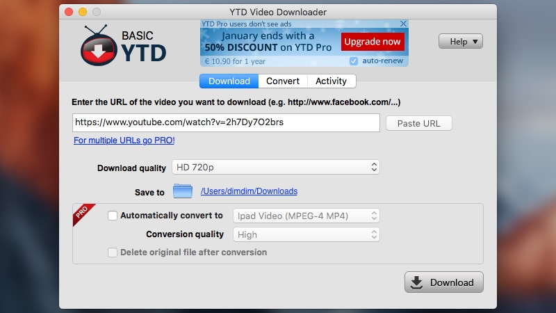 how to download a youtube video to my mac