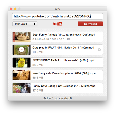 Airy YouTube to MP4 converter