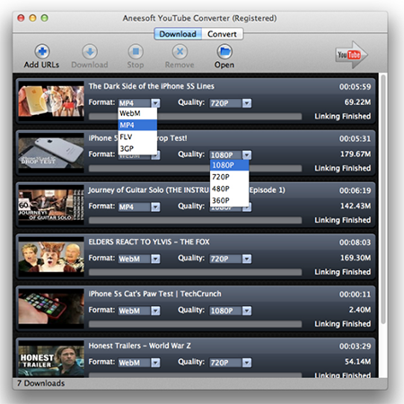 Aneesoft YouTube Converter for Mac