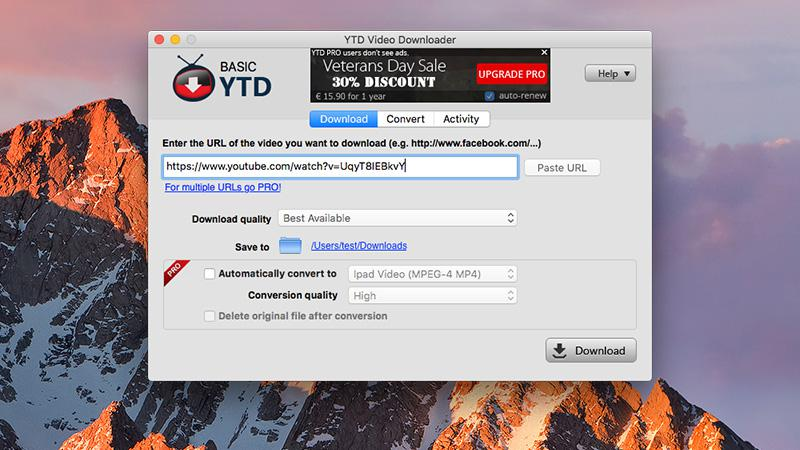 How to download videos from YouTube on Sierra