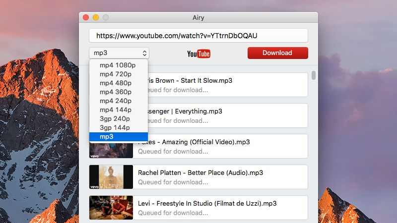 YouTube to mp3 converter Mac – Airy