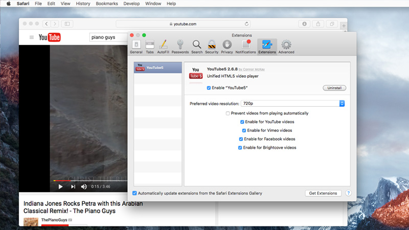 Save YouTube videos on Mac with YouTube5