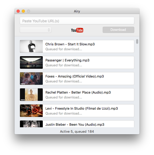Convert YTB videos to MP3 files on Mac